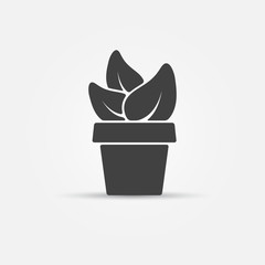Houseplant vector icon