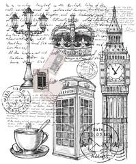illustration of telephone great britain