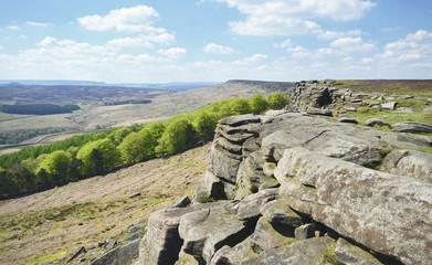 Stanage Edge Climbing Cliffs Peak District Derbyshire England