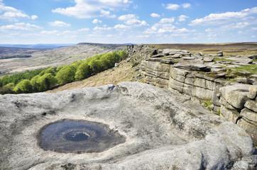 Stanage Edge Rock Climbing Area Derbyshire Peak District England