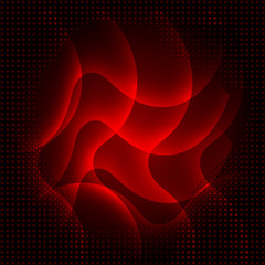Abstract dark red curves background