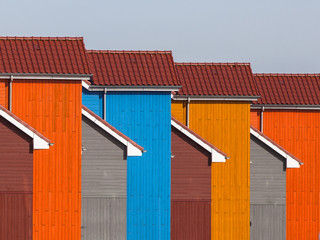 Abstract detail of Colorful Urban House