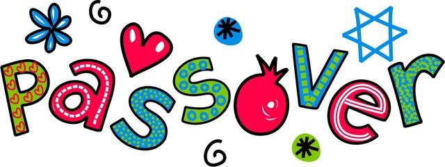 Passover Jewish Festival Cartoon Doodle Text