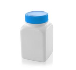 white bottles isolated on a white background