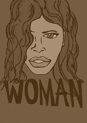 Woman face vintage