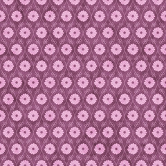 Pink Flower Repeat Pattern Background