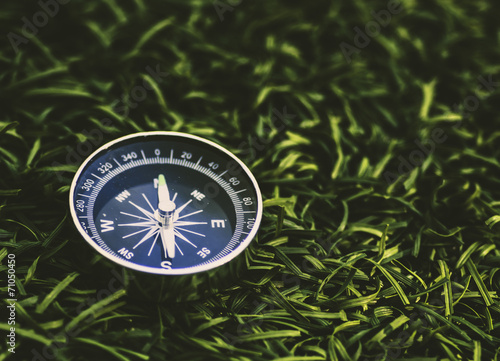 Stop watch on grass guide - 71050450