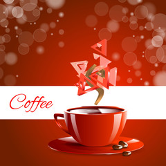 Espresso coffe red coffee