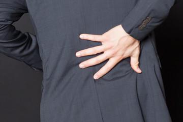 Rückenschmerzen close-up