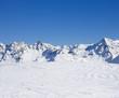 canvas print picture - Verschneite Berge