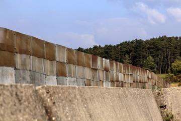 DDR-Grenze - Verlauf des Todesstreifens mit Drahtzaun