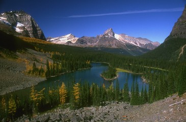 View Of Beautiful Mountain Scenery And Lake