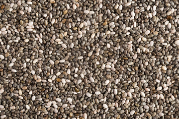 Close up view from above of Chia seeds