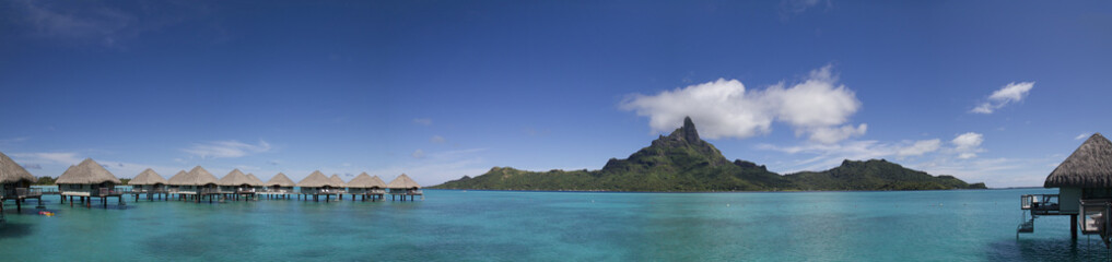 Panorama in Bora Bora, French Polynesia