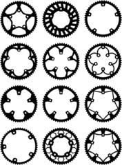 Vector pack of bike chainrings