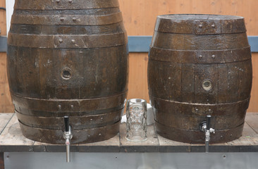 Beer Barrels and Glass