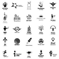 Color Corporate Icon Collection. Vector illustration eco symbols