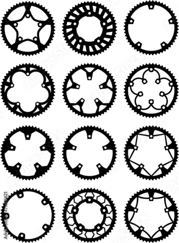 Vector pack of bike chainrings - 71056621