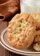 Macadamia nut cookies closeup