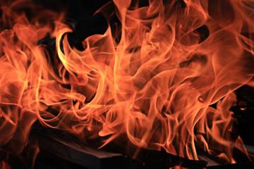 Fire texture background orange