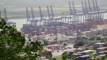 9of19 Panama city harbor, port, dock, cargo, containers,