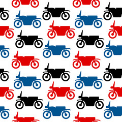 Motorcycle seamless pattern