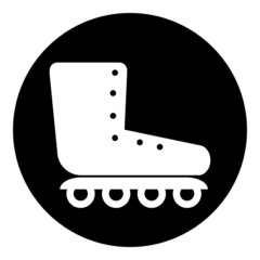Roller skates icon button