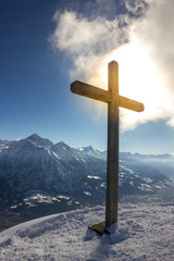 Croce con luce miracolosa
