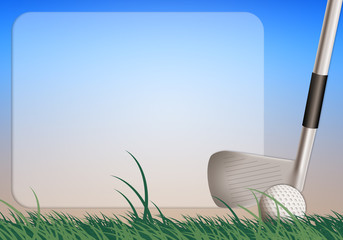 Golf equipment background