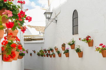 Street of Benalmadena Pueblo, Andalusia, Spain