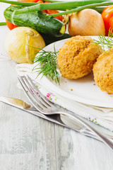 cutlets on a plate