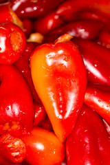 red pepper as background