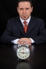 Businessman is waiting for meeting