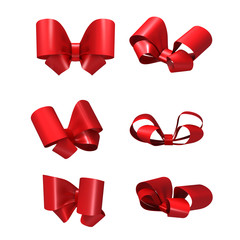 Decorative red bows