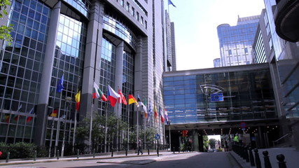 European parliament in Brussels (Belgium).