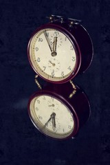 Filtered picture of a vintage alarm clock