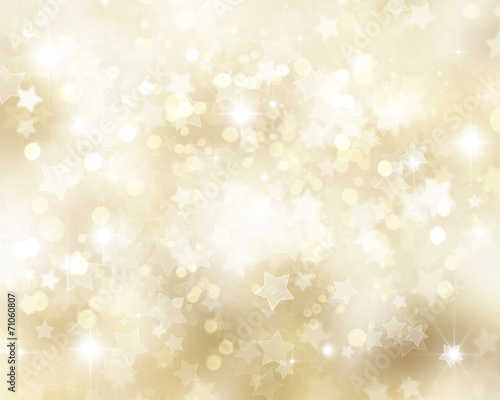 Leinwandbild Motiv Golden Christmas background