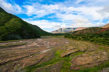 Quebrada near Cafayate town in the province of Salta Argentina