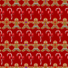 Christmas pattern seamless red