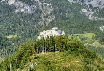 Alpine castle Werfen (Hohenwerfen) near Salzburg, Austria