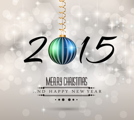 2015 Merry Christmas and Happy New Year Flyer