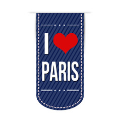 I love Paris banner design