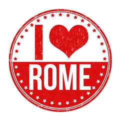 I love Rome stamp
