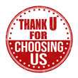 Thank you for choosing us stamp
