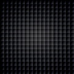 Black geometric background, cubes structure, seamless pattern