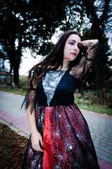 Beauty vampire portrait