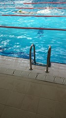 Piscina y nadador