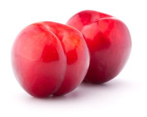 Sweet plum isolated on white background cutout