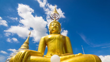 Time Lapse Gold Buddha In Wat Chiang Yeun Temple Of Thailand