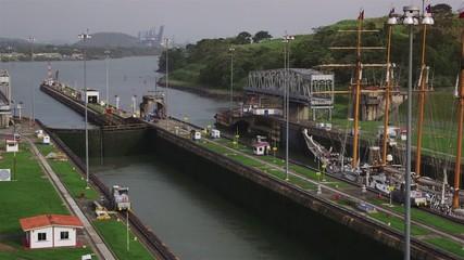 18of19 Panama city, canal, sail boat, ship, ocean